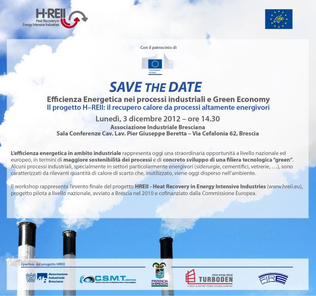 Save the Date -  HREII closing event, 3rd December 2012